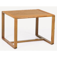 Contour Series Corner Table with Sled Base