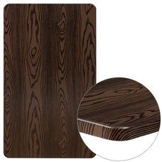 """24"""" x 42"""" Rectangular Rustic Wood Laminate Table Top"""
