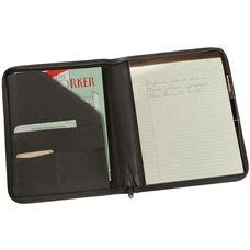 Zip Around Writing Padfolio - Aristo Bonded Leather - Black