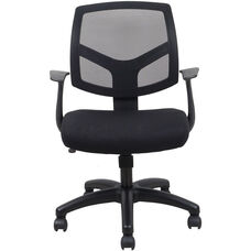 Essentials Swivel Mesh Task Chair with Arms - Black