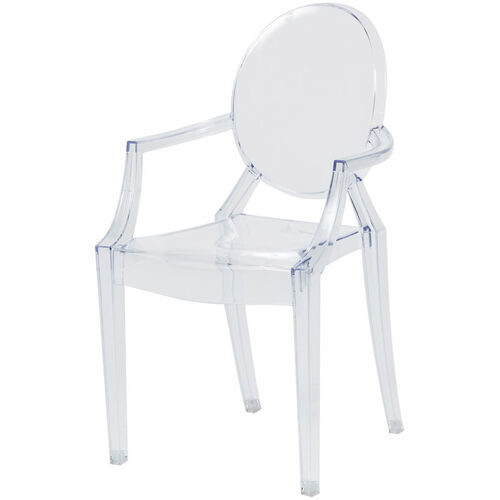 Kids Clear Polycarbonate Baby Kage Chair with Arms - Set of 4
