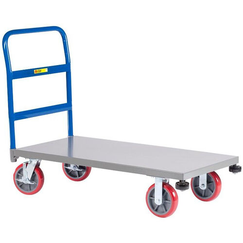 Heavy-Duty Single Handle Platform Truck with Rolling Corner Bumpers - 24