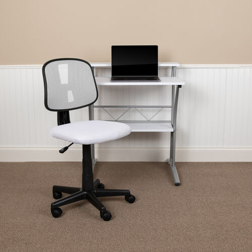 Our Basics Mid-Back Mesh Swivel Task Office Chair with Pivot Back, White, BIFMA Certified is on sale now.