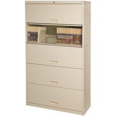 Stak-N-Lok 100 Series 5 High Locking Letter Size Cabinet - Bone White