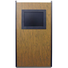 Visionary Non-Sound Lectern With Built-in LCD Screen - Medium Oak Finish - 26
