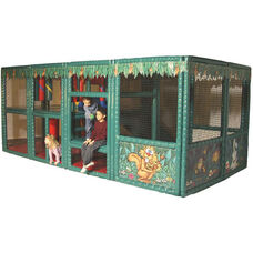 Jungle Contained Play Center with Welded Steel Framework and Foam Covered Vinyl Mats - 99