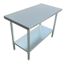 """Adcraft WT-2448-E 24""""x48"""" Stainless Steel Work Table"""