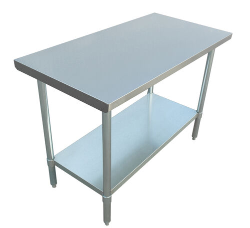 """Our Adcraft WT-2448-E 24""""x48"""" Stainless Steel Work Table is on sale now."""