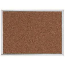 Natural Pebble Grain Cork Bulletin Board with Aluminum Frame