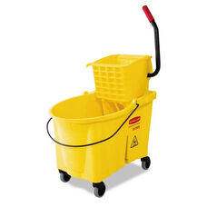 Rubbermaid® Commercial WaveBrake 44 Quart Bucket/Sideward Pressure Wringer Combination - Yellow