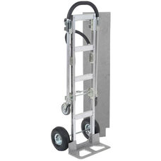 Best Value Senior Aluminum 2 In 1 Convertible Hand Truck W/ Pneumatic Wheels