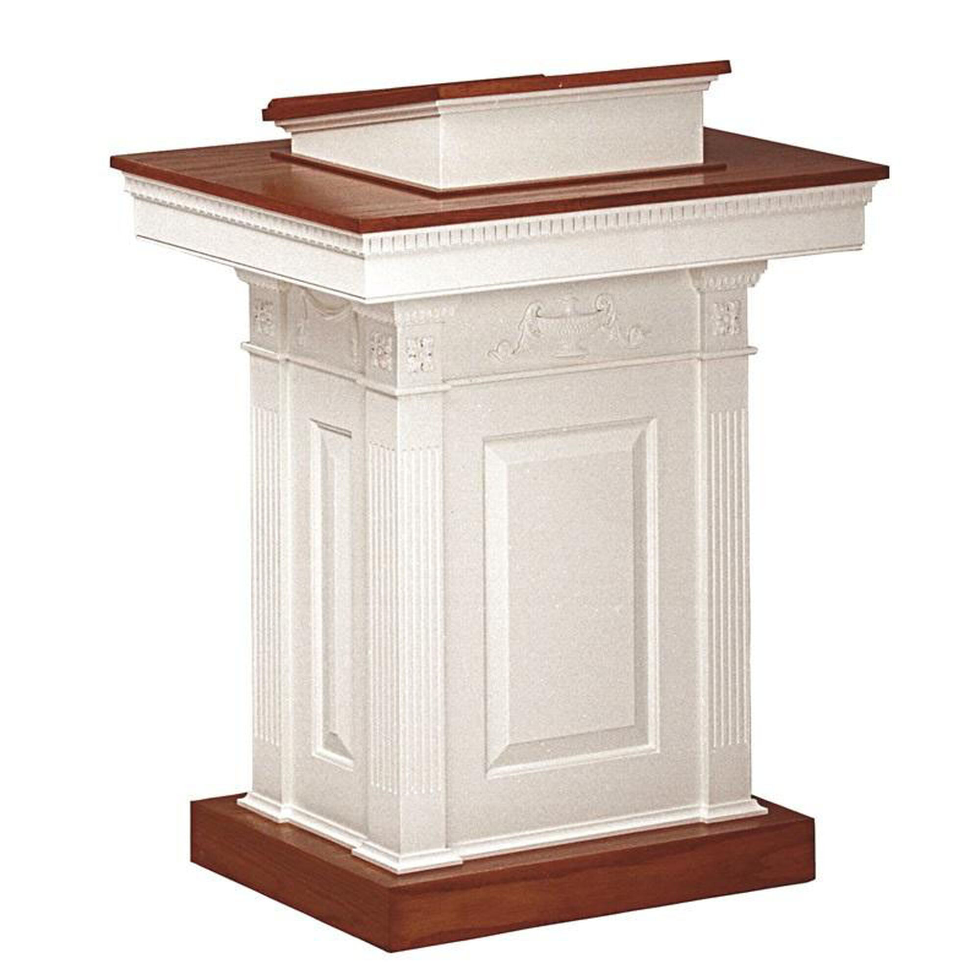 red oak pedestal pulpit 8201ppcolonial churchchairs4less com