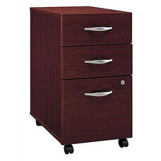 Series C Three Drawer Mobile Pedestal File - Mahogany