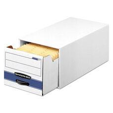 Bankers Box® STOR/DRAWER Steel Plus Storage Box - Wire - White/Blue - 12/Carton