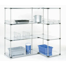Stainless Steel Solid 4 Shelf Unit - 24
