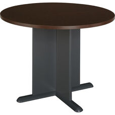 42'' Round Conference Table - Mocha Cherry
