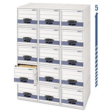 Bankers Box® STOR/DRAWER Steel Plus Storage Box - Check Size - Wire - White/Blue - 12/Carton