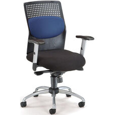 AirFlo Executive Task Chair with Silver Accents - Blue