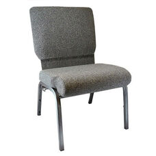 Advantage Charcoal Gray Church Chair with Book Rack 20.5 in. Wide
