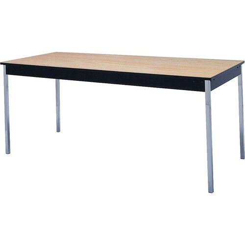 Our Stationary Series Rectangular Conference Table with Vinyl Flush Edge and Laminate Top - 24