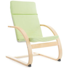 Nordic Rocker with Removable Cushion and Steam-Bent Plywood Construction - Sage Green - 20