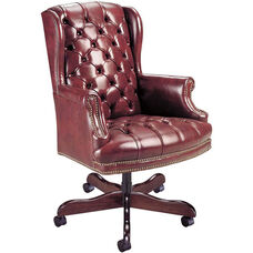 Quick Ship Traditional Series Tufted Executive Swivel Chair
