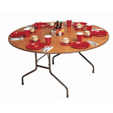 Fixed Height Round Melamine Top Folding Table - 48