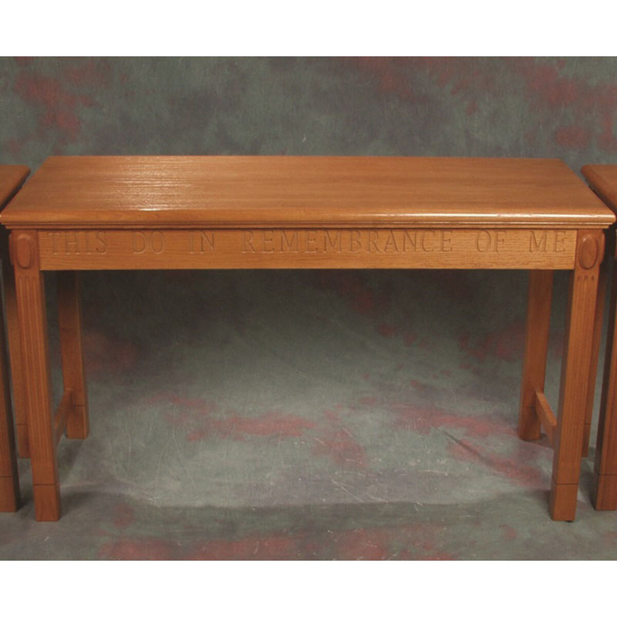 red oak open communion table tot 105 churchchairs4less com