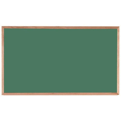 Green Composition Chalkboard with Red Oak Frame and Chalk Tray - 36