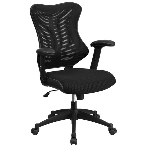 Our High Back Designer Black Mesh Executive Swivel Ergonomic Office Chair with Adjustable Arms is on sale now.