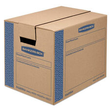Bankers Box® SmoothMove Prime Small Moving Boxes - 16l x 12w x 12h - Kraft/Blue - 10/Carton