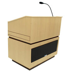 Coventry Wired 150 Watt Sound Multimedia Lectern - Maple Finish - 30