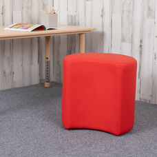 """Soft Seating Collaborative Moon for Classrooms and Common Spaces - 18"""" Seat Height (Red)"""