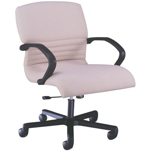 Quick Ship 1200 Series Management Swivel Chair with Black Urethane Arms