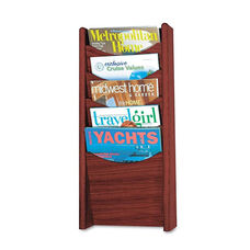 Safco® Solid Wood Wall-Mount Literature Display Rack - 11 1/4 x 3 3/4 x 23 3/4 - Mahogany