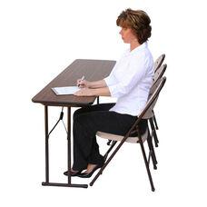 Folding Fixed Height Off-Set Leg Rectangular Seminar Table - 18''D x 60''W