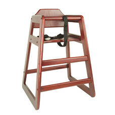 Mahogany Finish Wood High Chair