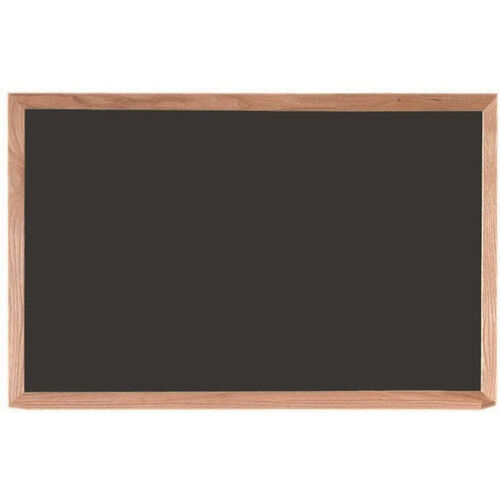Our Black Composition Chalkboard with Red Oak Frame and Chalk Tray - 24