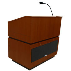 Coventry Wired 150 Watt Sound Multimedia Lectern - Mahogany Finish - 30