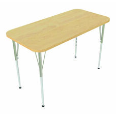 1000 Series Rectangular Adjustable Height Maple Top Activity Table - 48