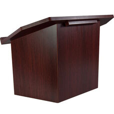 Advantage Mahogany Folding Wood Lectern