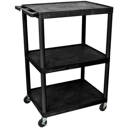Our 3 Shelf High Open A/V Utility Cart - Black - 32