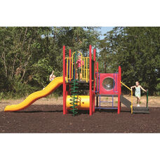 Galvanized Steel Tube Constructed Miss Marie Value Series Play Center with Thermoplastic Coated Punch Steel Decks - 156