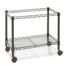 Alera® Single-Tier Rolling File Cart - 24w x 14d x 21h - Black