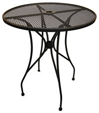 Outdoor Wrought Iron Table with 36'' Round Top