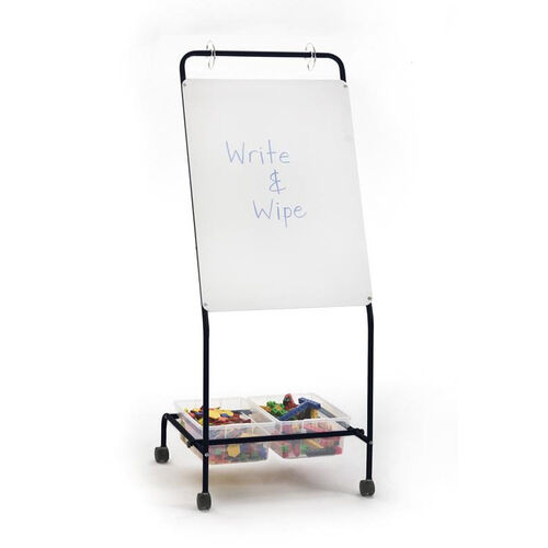 Basic Chart Stand - Dry Erase Board and Storage Tubs