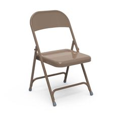 Multi-Purpose Steel Folding Chair with El Dorado Bronze Finish - 17.75''W x 18.62''D x 29.5''H