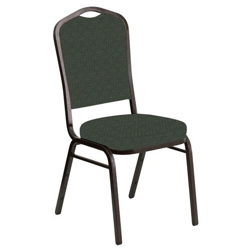 Crown Back Banquet Chair in Abbey Pine Fabric - Gold Vein Frame