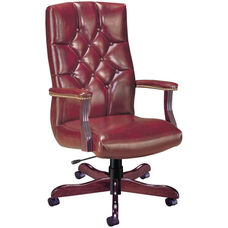 Quick Silver Executive Swivel Chair with Tufted Back
