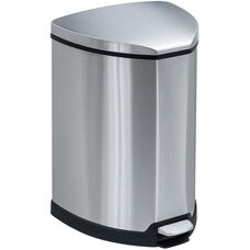 10.75'' W x 11.5'' D x 20'' H Stainless Steel Step on 4 Gallon Waste Receptacle